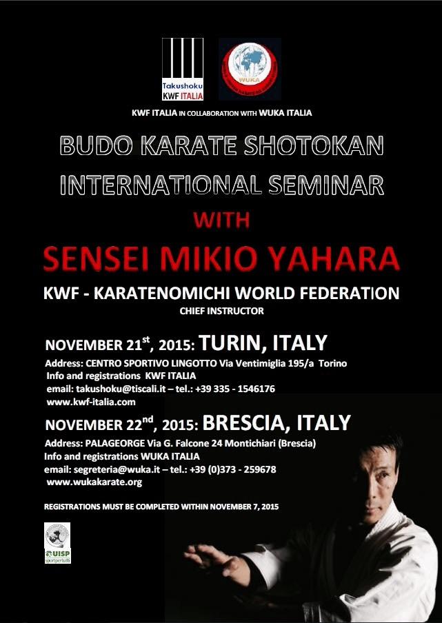 Mikio Yahara Shihan - Italie 2015